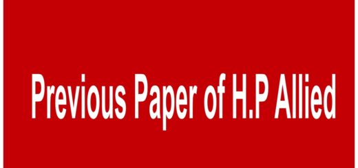 Previous paper of H.P Allied