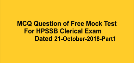 Ojective tyeype question of HPSSB and HPPSC