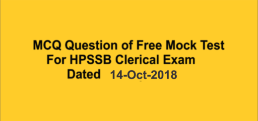 Hpssb Clerical exam 2018